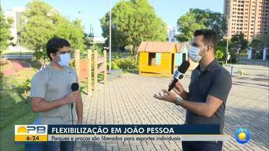 Parques e praças são liberados para esportes individuais, em João Pessoa - Confira os detalhes com o repórter Ítalo Di Lucena.