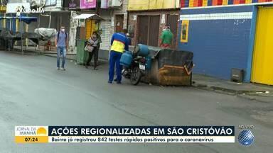 Confira como está o movimento em São Cristóvão, que tem medidas restritivas mais severas - Bairro já registrou 842 casos confirmados de coronavírus, através de testes rápidos.