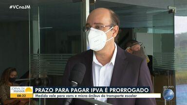 Prazo para pagamento do IPVA de veículos que fazem transporte escolar é prorrogado - O diretor da Secretaria Estadual da Fazenda, Augusto Guenem, fala sobre o assunto.