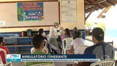 Bairro Ipanema, em Santarém, recebe atendimentos em saúde do ambulatório itinerante - Moradores tiveram acesso a consultas médicas, testes rápidos e vacinas.