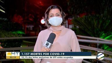 Mato Grosso chega a 1157 mortes por Covid-19 - Mato Grosso chega a 1157 mortes por Covid-19