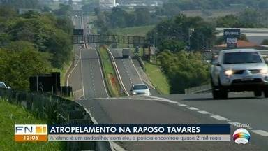 Andarilho morre atropelado na Rodovia Raposo Tavares, em Presidente Prudente - Um carro tentou desviar do homem, mas colidiu contra uma defensa metálica. Em seguida, uma caminhonete, um caminhão e outro veículo se envolveram na colisão.