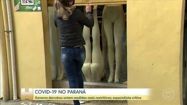 Covid-19: com mortes em alta, comércio de rua e shoppings reabrem no Paraná - Governo derrubou ontem decreto que limitava funcionamento.