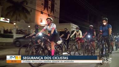 Ciclistas denunciam assaltos durante as pedaladas - Veja mais informações com o repórter Werton Araújo.