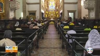 Missas em homenagem a Nossa Senhora do Carmo ocorrem com restrição devido à pandemia - Dia da padroeira do Recife é celebrado na quinta-feira (16), mas programação teve início no começo de julho e sofreu alterações para evitar contaminação de fieis.