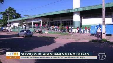 Usuários do Detran reclamam do sistema e da demora no atendimento do órgão, em Santarém - Serviço de agendamento não funciona bem, segundo as denúncias.