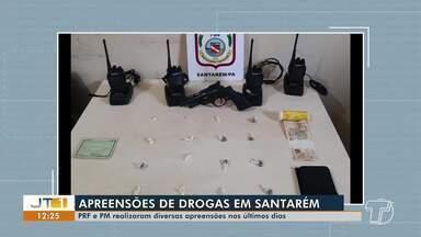 PRF e PM têm realizado diversas apreensões de cargas de drogas em Santarém - Grande quantidade de entorpecentes foi tirada das ruas nos últimos dias.