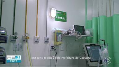 Hospital Manoel Afonso recebe 10 leitos de UTI para tratamento de Covid-19 em Caruaru - Unidade tem funcionado como apoio na retaguarda dos casos confirmados e suspeitos do novo coronavírus.