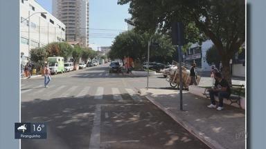 Prefeitura realiza desinfecção de ruas centras em Pouso Alegre - Prefeitura realiza desinfecção de ruas centras em Pouso Alegre