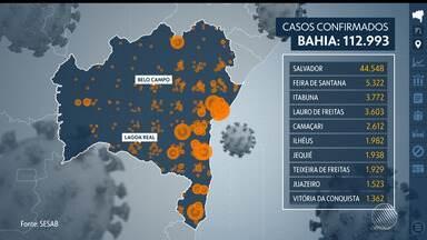 Covid-19: Bahia registra quase 113 mil casos da doença e tem 78% das UTIs ocupadas - Confira dados divulgados nesta quarta-feira (15), em boletim da Sesab.