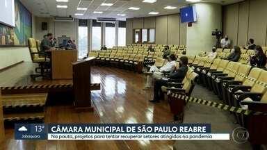 Câmara Municipal de São Paulo reabre com protocolos e regras de distanciamento - O local está seguindo protocolos sanitários rígidos.