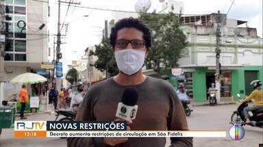 Decreto aumenta restrições de circulação em São Fidélis - Dentre as medidas está a multa por falta do uso de máscara.