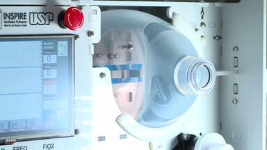 Engenheiros brasileiros iniciam segunda fase de testes com respiradores de baixo custo - Dez respiradores mecânicos foram levados, nesta quinta (16), ao Instituto do Coração, o Incor, para serem testados em pacientes contaminados pelo novo coronavírus.