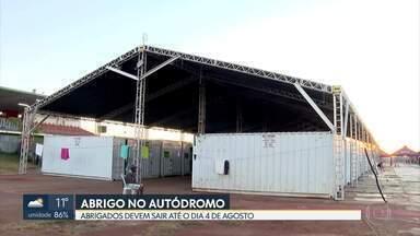 Abrigo do autódromo para pessoas em situação de rua vai ser desativado - GDF avisou que serviço vai até 4 de agosto.