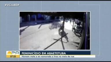 Mulheres fazem protesto após feminicídio em Abaetetuba - A mulher foi morta a queima roupa no meio da rua.