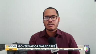 Governador Valadares registra mais três mortes por Covid-19 - Com 180 novos casos, cidade possui 2.821 casos positivos da doença.
