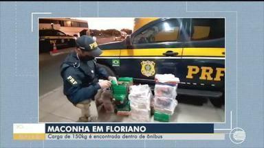 Cerca de 150kg de drogas são encontrados em ônibus - Cerca de 150kg de drogas são encontrados em ônibus