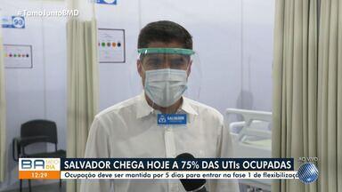 Prefeito fala sobre taxa de ocupação de leitos de UTI em Salvador - Leitos são destinados a pacientes contaminados pela Covid-19.