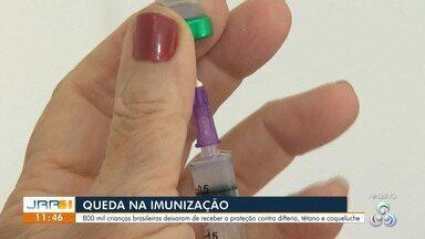 Mais 800 mil crianças brasileiras não se imunizaram contra difteria, tétano e coqueluche. - Em 2019, no mundo, cerca de 20 milhões de crianças não foram vacinadas ou não receberam as doses necessárias.