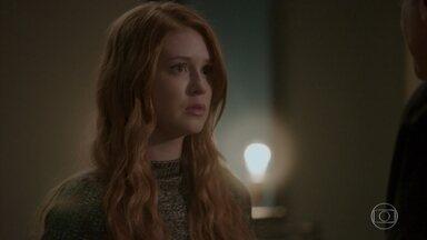 Eliza recusa beijo de Arthur - Sem pensar duas vezes, a garota alerta o bon vivant e lembra que o empresário prometeu respeitá-la depois que ela voltou da casa de Max