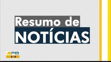 Confira o resumo do Bom dia Paraíba desta segunda-feira, 20 - Veja o resumo das notícias desta segunda-feira