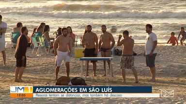 Movimentação de pessoas em áreas de lazer é intensa em São Luís - Durante o fim de semana, centenas de pessoas se aglomeraram em pontos turísticos da capital maranhense.