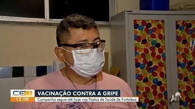 Vacinação contra gripe segue até hoje nos postos de saúde da capital - Saiba mais em: g1.com.br/ce