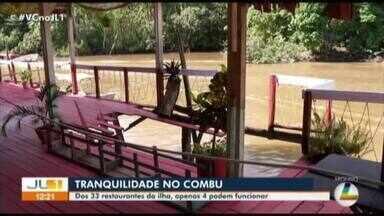 Fiscalização fecha 29 dos 33 restaurantes da ilha do Combu, em Belém - Fiscalização fecha 29 dos 33 restaurantes da ilha do Combu, em Belém