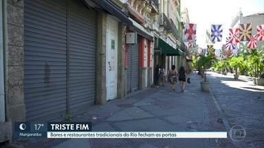 Bares e restaurantes tradicionais fecham as portas - Empresários comentam o impacto ao encerrar as atividades por conta da pandemia.