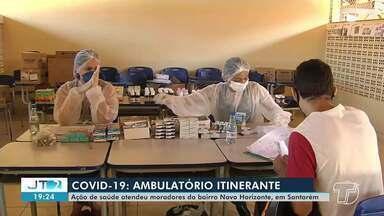 Ambulatório itinerante leva atendimentos de saúde a moradores do bairro Novo Horizonte - Além do atendimento médico e acesso a medicamentos, o ambulatório permite o acesso a diversos tipos de vacina.