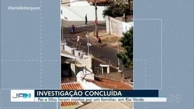 Homem é indiciado por matar a facadas cunhado e sobrinho, em Rio Verde - Investigação apontou que crime aconteceu porque o indiciado queria parte do valor referente a um imóvel, o qual não tinha sido vendido. Duplo homicídio foi filmado por um vizinho.