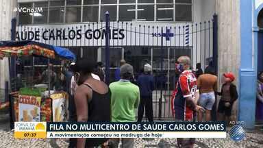Multicentro da Carlos Gomes amanhece com fila; prefeito comenta plano para gerar empregos - Confira mais informações sobre a pandemia na capital baiana.