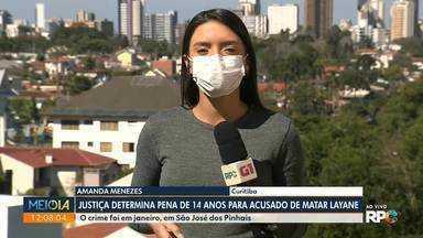 Jovem é condenado a 14 anos de prisão por matar Layane da Silva - O crime foi em janeiro, em São José dos Pinhais