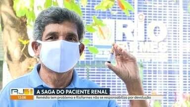 Pacientes renais são informados por redes sociais sobre recolhimento de remédio - Alguns lotes fornecidos pela Riofarmes apresentaram problemas e a distribuidora fez o comunidade pela internet.