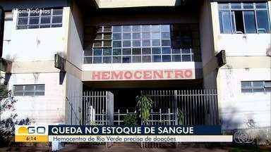 Hemocentro de Rio Verde precisa de doações de sangue - Há registro de quedas no número de doações.