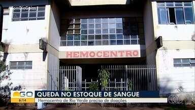 Hemocentro de Rio Verde precisa de doações de sangue - Há registro de quedas no número de doações.