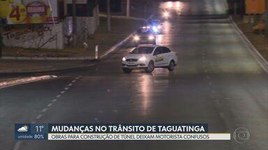 Motoristas ainda estão confusos com desvios no centro de Taguatinga - Nossa equipe esteve lá ontem (23) à noite e também conversou com passageiros de ônibus, que também têm dúvidas.
