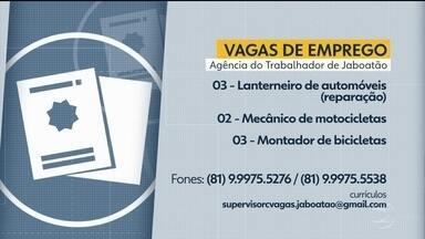 Confira as vagas de emprego oferecidas na Agência do Trabalho de Jaboatão dos Guararapes - Há oportunidades para mecânico de motocicletas e lanterneiro de automóveis, entre outras.