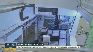 Covid-19: Ribeirão Preto terá para robô para analise de exames a partir desta segunda (27) - Prefeitura fez investimento na nova tecnologia para diminuir a fila de espera por resultados. Cidade busca avançar no Plano SP de retomada das atividades.