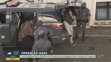 Casal suspeito de desvio milionário na Saúde do Rio é preso em operação da PF em Campinas - Luis Eduardo Cruz e Simone Amaral da Silva Cruz são alvos de uma investigação que aponta desvios de R$ 6,5 milhões. Eles foram presos na manhã desta quinta (23) em Campinas.
