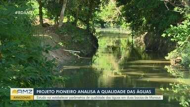 Pesquisa avalia qualidade da água dos igarapés de Manaus - Estudo pioneiro vai estabelecer parâmetros de qualidade das águas em duas bacias da cidade.