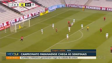 Campeonato Paranaense chega às semifinais - Coritiba e Athletico garantiram vaga na rodada desta quarta-feira