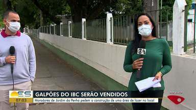 Moradores de Jardim da Penha, em Vitória, querem que galpões do IBC virem área de lazer - Imóvel será leiloado.