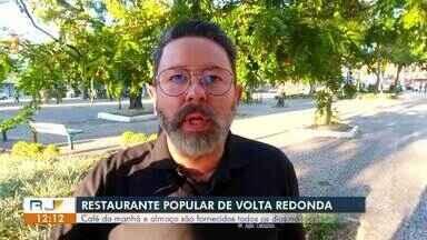Restaurante Popular de Volta Redonda volta a servir café da manhã e almoço no local - Algumas medidas para evitar propagação do coronavírus foram tomadas, como horários alternativos e limite de refeições diárias.
