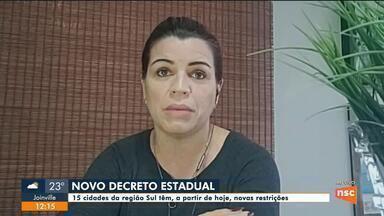 Criciúma adota mais restrições após decreto estadual - Criciúma adota mais restrições após decreto estadual