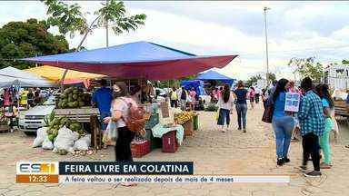 Em Colatina, feira livre voltou a ser realizada depois de mais de quatro meses, no ES - Veja.