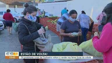 Feiras livres voltam a acontecer em Cachoeiro de Itapemirim, ES - Confira na reportagem.