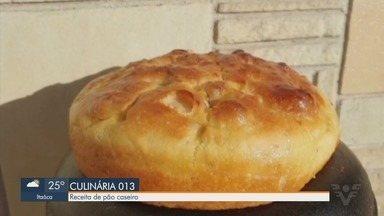 Aprenda a fazer um pão caseiro fácil: sem sova, saboroso e fofinho - Chef e consultor gastronômico Welder Albuquerque ensinou o passo a passo do pão. Ele ainda deu várias dicas para fazer pães em casa.