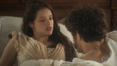 Domitila afirma que terá um filho homem - Dom Pedro gosta de imaginar que previsão de Domitila se realizará