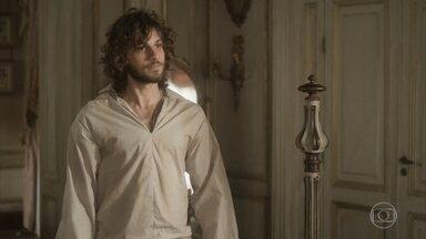 Joaquim teme que a prisão de Fred os impeça de tê-lo como aliado - Anna diz que viu brilho nos olhos do pirata ao oferecer localização do Galeão em troca de provas contra Thomas